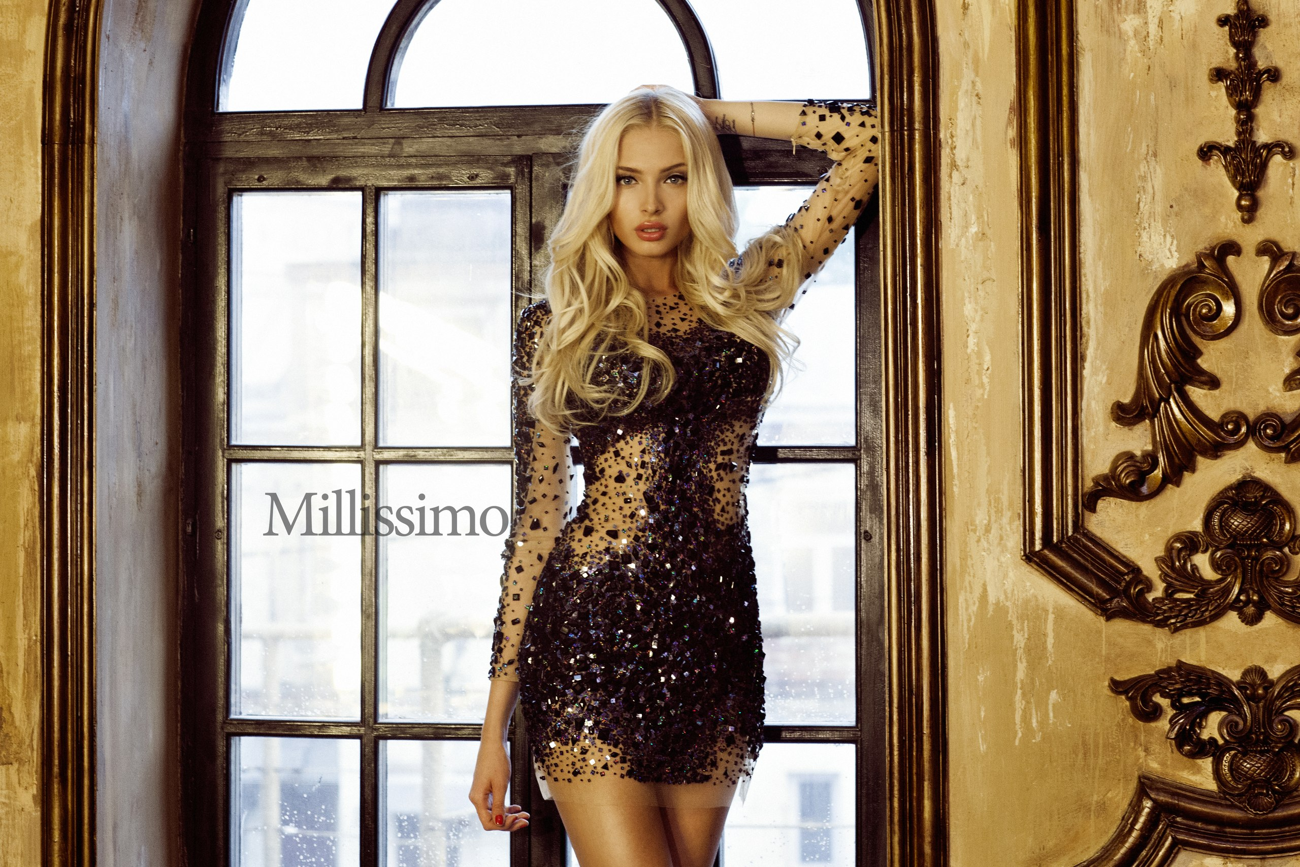 Alena shishkova black dress