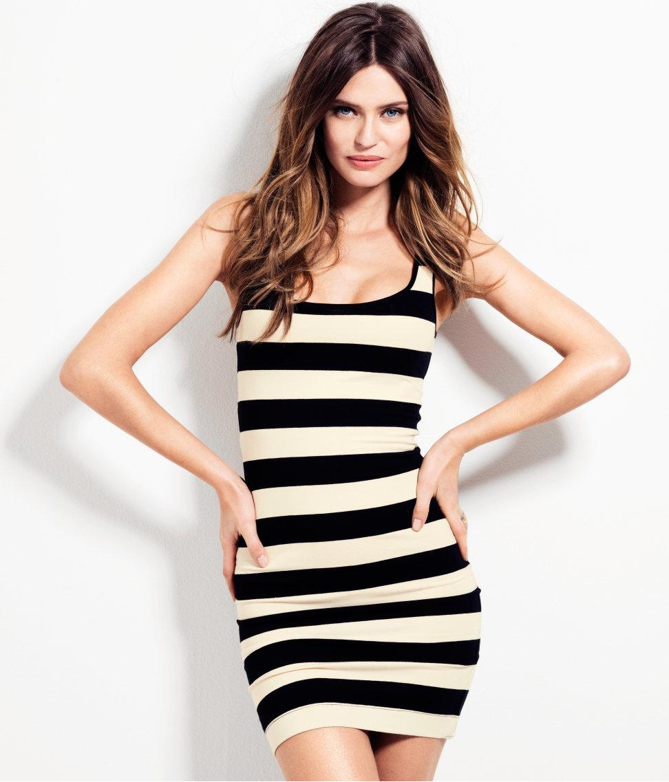 Летнее платье в полоску купить 11