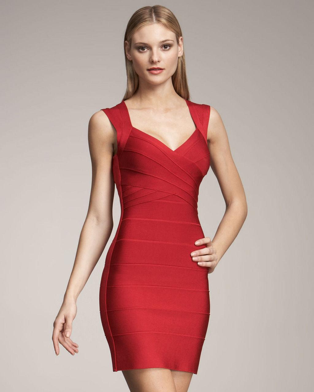 Красное коктейльное платье фото 7