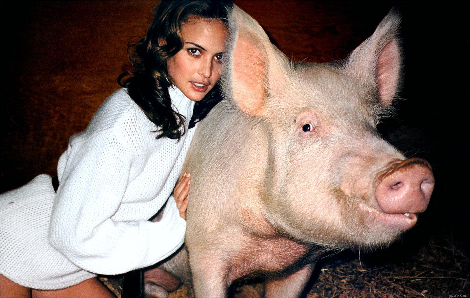 Толстый хряк и девушка 17 фотография