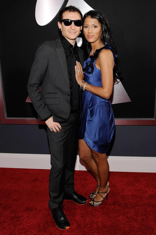 Честер Беннингтон (Linkin Park) с женой …
