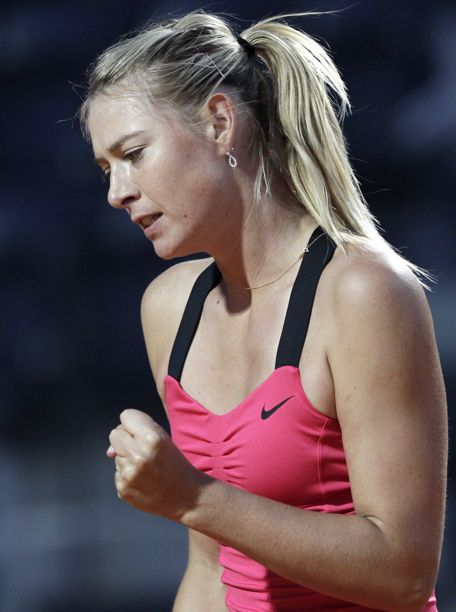Maria Sharapova suffers leg injury out of Fed Cup #A02B4C 1896x2544