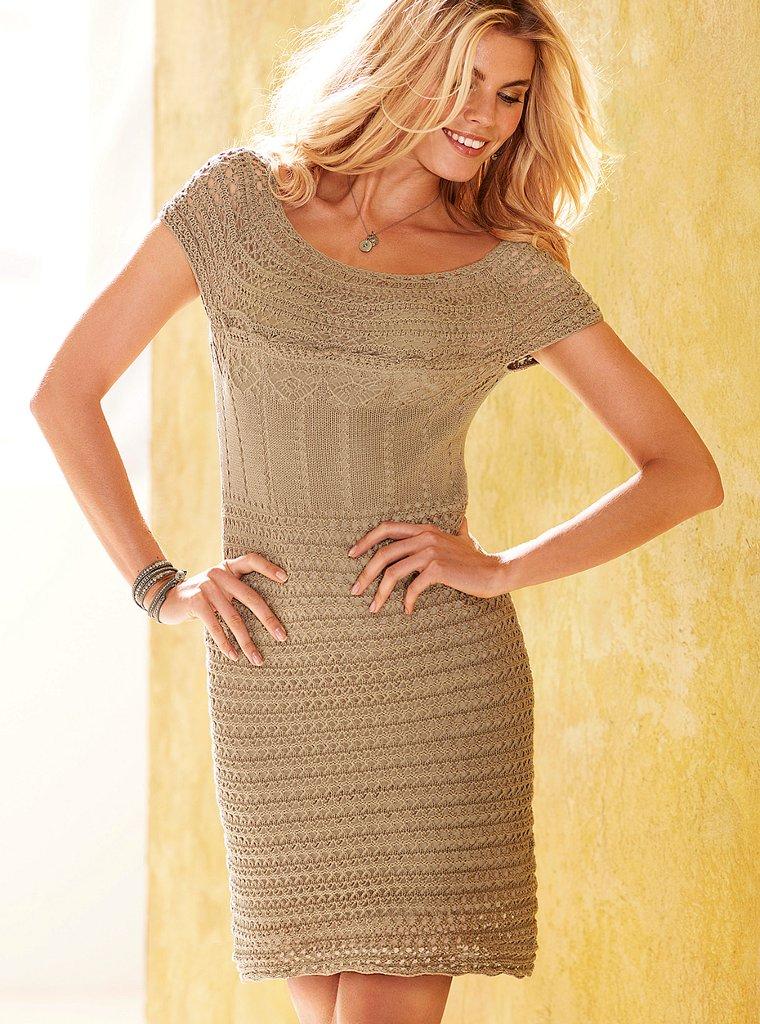 Вязка крючком.  Подклад.  Вязаное платье Victorias Secret 7025...